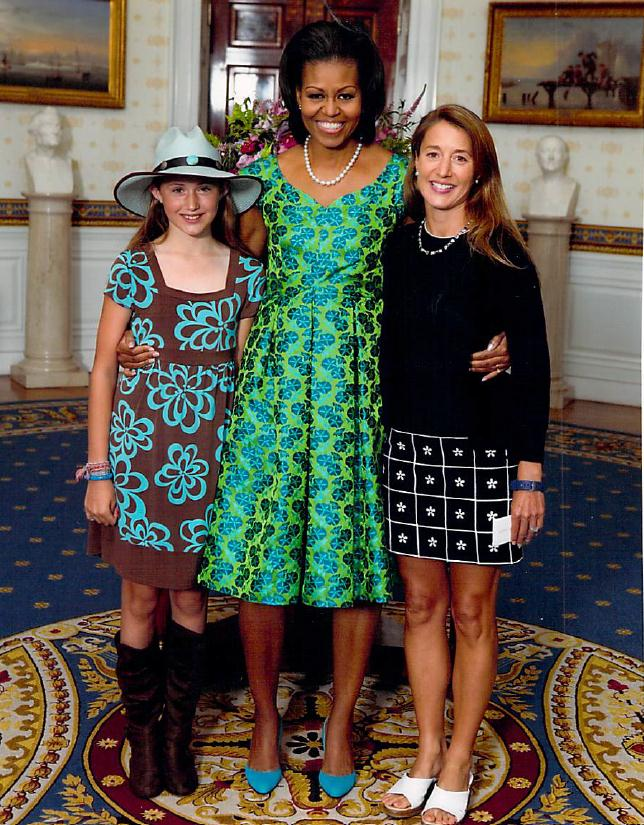 <strong>Hey, it's Kathryn and Elena with Mrs. Obama!</strong> <br> Click here for Kathryn's new website Make Wellness Fun!
